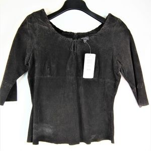 Women's Wilsons Brown Suede leather top Size M